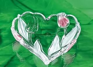 Ваза-сердце NADINE 16 см  розовое