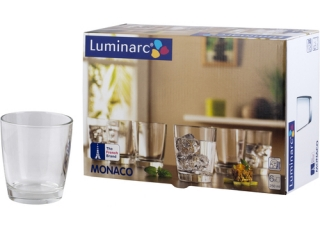 MONACO стаканы низкие 250 мл 6 шт.