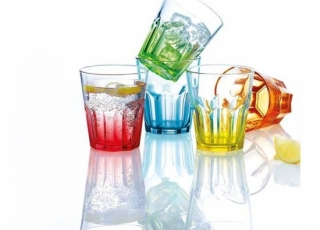 NEW AMERICA BRITHS COLORS набор стаканов низких 270 мл 6шт.