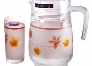 POEME ROSE стаканы + кувшин-7 предметов