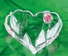 Ваза-сердце NADINE 24 см  розовое
