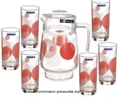 CONSTELLATION RED стаканы + кувшин