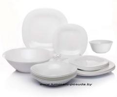 CARINE NEO WHITE 25 предметов с салатниками Ø 12 см