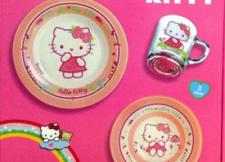 HELLO KITTY NORDIC FLOWER ROSE детский набор 3 предмета