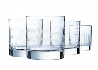 ECLAT ILLUMINATION набор стаканов низких 380 мл. 4 шт.