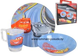 DISNEY CARS-3 детский набор 3 предмета