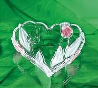 NADINE ваза-сердце 160 мм розовое
