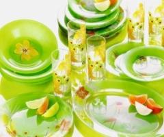 POP FLOWERS GREEN 19 предметов с блюдом