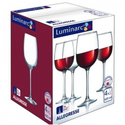 ALLEGRESSE фужеры для вина  420 мл. 4 шт.