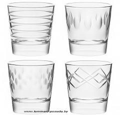 CONTRASTI набор стаканов низких 370 мл. 4 шт.