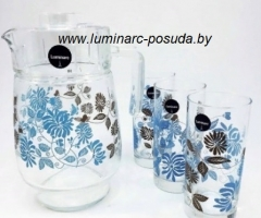 TAMAKO BROWN стаканы + кувшин