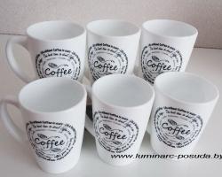 COFFE LOVE набор кружек 6 шт. 320 мл.