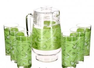PLENITUDE GREEN стаканы + кувшин