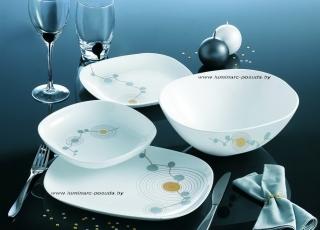 SEQUINS WHITE 25 предметов с салатниками Ø 16 см