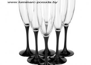 DOMINO бокалы для шампанского 170 мл. 6 шт.