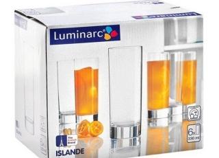 ISLANDE набор стаканов высоких 330 мл. 6 шт.